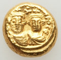Ancients:Byzantine, Ancients: Heraclius (AD 610-641), with Heraclius Constantine. AVsolidus (4.49 gm)....