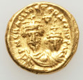 Ancients:Byzantine, Ancients: Heraclius (AD 610-641), with Heraclius Constantine. AVsolidus (4.41 gm). Choice XF....
