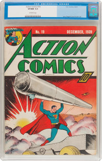 Action Comics #19 (DC, 1939) CGC VF/NM 9.0 Off-white pages