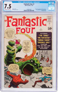 Silver Age (1956-1969):Superhero, Fantastic Four #1 (Marvel, 1961) CGC VF- 7.5 Off-white to whitepages....