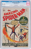 Silver Age (1956-1969):Superhero, The Amazing Spider-Man #1 (Marvel, 1963) CGC VF 8.0 Off-white towhite pages....