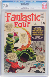 Fantastic Four #1 (Marvel, 1961) CGC FN/VF 7.0 Off-white to white pages