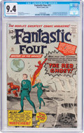 Silver Age (1956-1969):Superhero, Fantastic Four #13 (Marvel, 1963) CGC NM 9.4 Off-white to white pages....