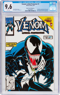 Venom: Lethal Protector #1 Gold Variant White Cover/Printing Error (Marvel, 1993) CGC NM+ 9.6 White pages