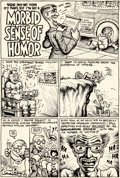 "Original Comic Art:Complete Story, Robert Crumb Despair #1 Complete 1-Page Story ""Morbid Sense of Humor"" Original Art (Print Mint Inc, 1969)...."