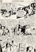 Original Comic Art:Panel Pages, George Papp Adventure Comics #174 Story Page 5 Green ArrowOriginal Art (DC, 1952)....