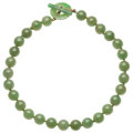 Estate Jewelry:Necklaces, Jade, Yellow Metal Necklace . ...