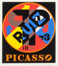 Fine Art - Work on Paper:Print, Robert Indiana (b. 1928)Picasso, fr...