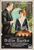 """Movie Posters:Comedy, Let's Get a Divorce (Paramount, 1918). One Sheet (28"""" X 41"""").Comedy.. ..."""