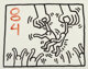 Keith Haring (1958-1990) Untitled, 1984 Sumi ink on paper 23 x 29 inches (58.4 x 73.7 cm) (sheet) Signed and dated o...