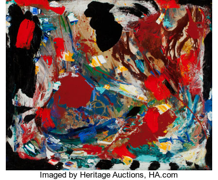 Hans Hofmann (1880-1966)Holocaust, 1953Oil on panel25 x 30 inches (63.5 x 76.2 cm)Signed and dated on the revers...