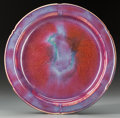 Asian:Chinese, A Chinese Flambé Glazed Dish, Qing Dynasty. 9-1/4 inches diameter(23.5 cm). ...