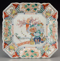 Asian:Japanese, A Japanese Arita Porcelain Dish, Edo Period, 18th-19th century.11-5/8 h x 11-1/2 w x 1-7/8 d inches (29.5 x 29.2 x 4.8 cm)...