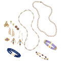 Estate Jewelry:Lots, Multi-Stone, Cultured Pearl, Gold Jewelry. ... (Total: 13 Items)