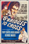 Movie Posters:Crime, Six Bridges to Cross & Other Lot (Universal International,1955). Folded, Overall: Fine/Very Fine. One Sheets (3) (27...
