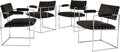 Furniture , A Group of Four Milo Baughman for Thayer Coggin Upholstered and Chromed Steel Armchairs, circa 1965 and later. 29-1/2 h x 21... (Total: 4 Items)