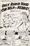 Original Comic Art:Panel Pages, Ogden Whitney Herbie #9 Story Page 1 Original Art (ACG,1965)....