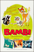"""Movie Posters:Animation, Bambi (Buena Vista, R-1966). One Sheet (27"""" X 41"""") Style B. Animation.. ..."""