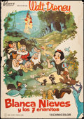 "Movie Posters:Animation, Snow White and the Seven Dwarfs (Filmax, R-1964). Mexican One Sheet(27"" X 39""). Animation.. ..."