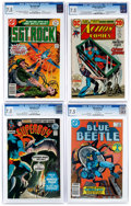 Bronze Age (1970-1979):Miscellaneous, DC Bronze and Modern Age Comics CGC-Graded Group of 4 (DC, 1971-86)CGC VF- 7.5.... (Total: 4 Comic Books)