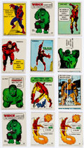 Memorabilia:Trading Cards, Marvel 1967 Superhero Stickers Group of 12 (Marvel, 1967)Condition: Average FN/VF.... (Total: 12 Items)