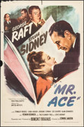 "Movie Posters:Drama, Mr. Ace (United Artists, 1946). One Sheet (27"" X 41""). Drama.. ..."