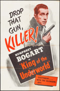"Movie Posters:Crime, King of the Underworld (Warner Brothers, R-1956). One Sheet (27"" X41""). Crime.. ..."