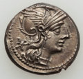 Ancients:Ancient Lots , Ancients: ANCIENT LOTS. Roman Republican and Imperial. Lot of two(2) silver coins (132 BC and AD 241-243). VF-AU....(Total: 2 coins)