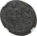 Ancients:Roman Imperial, Ancients: BARBARIAN KINGDOMS. Vandal Carthage (AD 439-533). AE 21 nummi (7.07 gm). NGC XF 4/5 - 4/5. ...