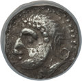Ancients:Celtic, Ancients: LOWER DANUBE. Burgenland type. Ca. 2nd-1st centuries BC.AR diobol (0.95 gm). NGC XF 4/5 - 4/5....
