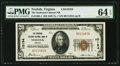 National Bank Notes:Virginia, Norfolk, VA - $20 1929 Ty. 1 The Seaboard Citizens NB Ch. # 10194....