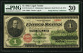 Large Size:Legal Tender Notes, Fr. 17b $1 1862 Legal Tender PMG Very Fine 30.. ...