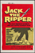"Movie Posters:Mystery, Jack the Ripper (Paramount, 1960). One Sheet (27"" X 41""). Mystery....."