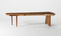 Furniture , Mira Nakashima (American, b. 1942). Custom R Bench, 2005. English walnut . 17-1/2 x 72-1/2 x 28-1/4 inches (44.5 x 184.2...
