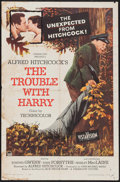 """Movie Posters:Hitchcock, The Trouble with Harry (Paramount, 1955). Folded, Fine. One Sheet (27"""" X 41""""). Hitchcock.. ..."""
