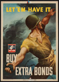 "Movie Posters:War, World War II ""Let 'Em Have It."" (U.S. Government Printing Office, 1943). Propaganda Poster (10"" X 14""). War.. ... (Total: 3 Items)"
