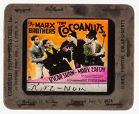"The Cocoanuts (Paramount, 1929). Glass Slide (3.25"" X 4"") & Standee (39.5"" X 70.5""). Comedy..."