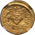 Ancients:Byzantine, Ancients: Phocas (AD 602-610). AV solidus (4.42 gm). NGC MS 4/5 -4/5....