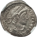 Ancients:Roman Imperial, Ancients: Constantius II (AD 337-361). AR siliqua (2.84 gm). NGC MS 5/5 - 3/5....