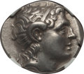 Ancients:Greek, Ancients: THRACIAN KINGDOM. Lysimachus (305-281 BC). AR tetradrachm(16.91 gm). NGC Choice VF 4/5 - 4/5....