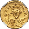 Ancients:Byzantine, Ancients: Phocas (AD 602-610). AV solidus (4.41 gm). NGC MS 5/5 - 3/5....