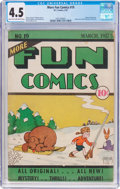 Platinum Age (1897-1937):Miscellaneous, More Fun Comics #19 (DC, 1937) CGC VG+ 4.5 Light tan to off-whitepages....