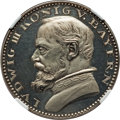 German States:Bavaria, German States: Bavaria. Ludwig III silvered copper Proof Pattern 5Mark 1913 PR62 Cameo NGC,...