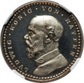 German States:Bavaria, German States: Bavaria. Ludwig III silvered copper Proof Pattern 2Mark 1913 PR63 Cameo NGC,...