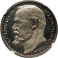German States:Bavaria, German States: Bavaria. Ludwig III silvered copper Proof Pattern 3Mark 1913 PR63 Cameo NGC,...