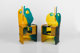 Gaetano Pesce (Italian, b. 1939) Pair of Nobody's Perfect Chairs, designed 2002, manufactured 2003, ZeroDesign Polyure...
