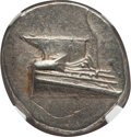 Ancients:Greek, Ancients: LYCIA. Phaselis. Ca. 4th century BC. AR stater (10.42gm). NGC MS 4/5 - 4/5, die shift....