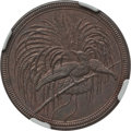 German New Guinea:German Colony, German New Guinea: German Colony. Wilhelm II 10 Pfennig 1894-A MS62 Brown NGC,...