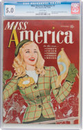 Golden Age (1938-1955):Non-Fiction, Miss America Magazine V1#3 (Miss America Publishing/Marvel/Atlas,1944) CGC VG/FN 5.0 White pages....