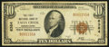 National Bank Notes:Pennsylvania, Falls Creek, PA - $10 1929 Ty. 1 The First NB Ch. # 6384. ...
